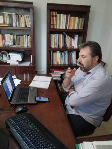 Σ. Αραχωβίτης σε τηλεδιάσκεψη με φοιτητές της Λακωνίας