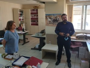 Επίσκεψη Στ. Αραχωβίτη στον ΕΦΚΑ Μισθωτών Σπάρτης