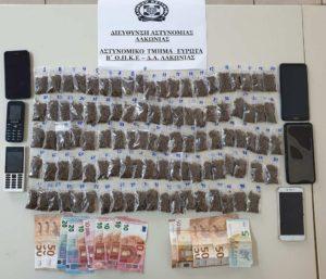 Συνελήφθησαν τέσσερα άτομα στο Δ. Ευρώτα Λακωνίας