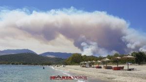 Πυρκαγιά στο Βαχό Μάνης