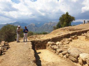 Επίσκεψη Στ. Αραχωβίτη στο Ιερό του Αμυκλαίου Απόλλωνα