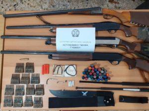 Συνελήφθη ένα άτομο για παράβαση των νομοθεσιών για τα όπλα στη Λακωνία