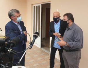 Συνάντηση Αραχωβίτη , Τσιόδρα , Παπαγεωργίου ,Πρεζεράκου για κρούσματα Covid 19 στο Δ. Ευρώτα
