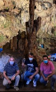 Επίσκεψη Δαβάκη στα Σπήλαια Διρού