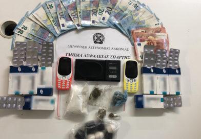 Σύλληψη 64χρονου στην Σπάρτη για ναρκωτικά που βρέθηκαν στο κατάστημα του και στην οικία του