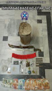 Συλλήψεις 2 ατόμων στην Σπάρτη για ναρκωτικά και διάφορα άλλα αντικείμενα