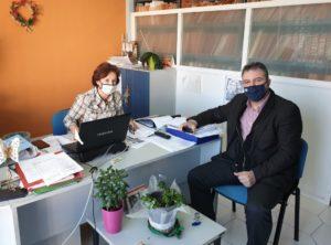 Επίσκεψη Στ. Αραχωβίτη στο υποκατάστημα ΕΦΚΑ μη μισθωτών Σπάρτης