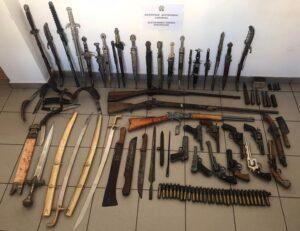 Λακωνία – Σχηματίσθηκε δικογραφία σε βάρος 64χρονου ημεδαπού για ποσότητα όπλων