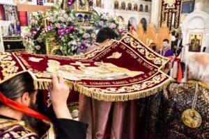 Η Μ. Παρασκευή & η περιφορά του Ιερού Σκηνώματος στον Ι.Ν.Οσίου Νίκωνος Σπάρτης