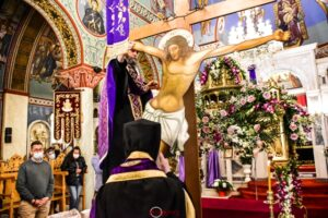 Η Αποκαθήλωση του Κυρίου στον Ι. Ν. Οσίου Νίκωνος Σπάρτης