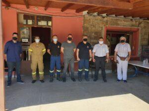 Επίσκεψη Στ. Αραχωβίτη στην Πυροσβεστική Υπηρεσία Γυθείου