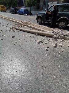 Τροχαίο σημειώθηκε σε κεντρική οδό στην Σπάρτη