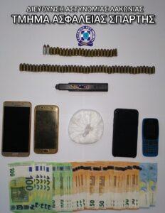Συνελήφθη ένα άτομο στην Ε.Ο Τρίπολης – Σπάρτης