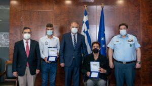 Τιμήθηκαν από τον Υπ. Προστασίας του Πολίτη Τσαπατάκης & Ζησιμόπουλος