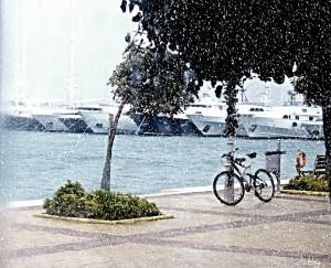 Χιονισμένο ποδήλατο