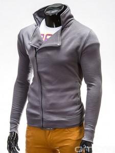 OMBRE-Slim-Fit-Grey-Sweatshirt-Jacket-with